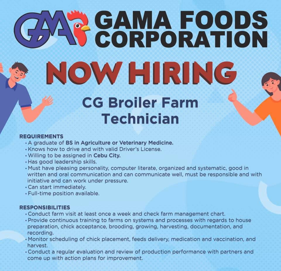 Technician Work, Jobs - November | Philippines