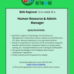 Human Resource and Admin Manager
