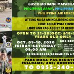 Philippine Army, Navy and Air force Aspirants