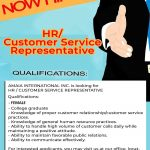 HR / Customer Service Representative