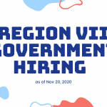 Region VII Government Hiring as of Nov 20, 2020