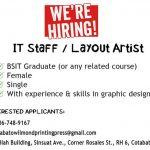 IT Staff / Layout Artist